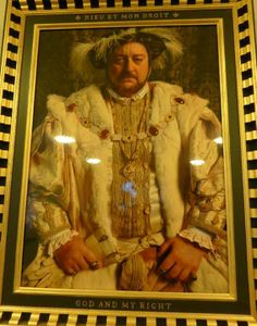 Hampton Court Palace representation of Henry VIII