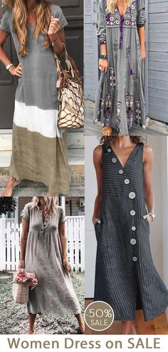 Womens robe maxi casual maintenant OFF. Fashion 2020, Diy Fashion, Chic Outfits, Spring Outfits, Dresses For Sale, Cute Dresses, Clothes, Shop, Restorative Yoga