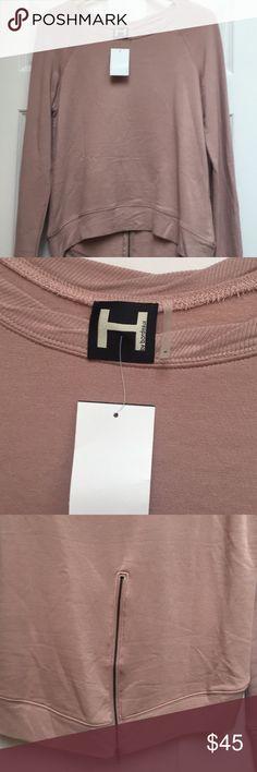 NWT H by Bordeaux hi/lo Blush sweatshirt NWT hi lo zip back soft stretchy sweatshirt. H by BORDEAUX. Blush color. h by bordeaux Tops Sweatshirts & Hoodies