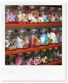 love the clear jars making it easy to see exactly what the contents are!