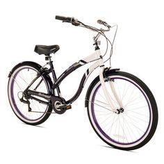 Kent Women's Oakwood Cruiser 26 in 7-Speed Bicycle Purple/White - Women's Bikes at Academy Sports