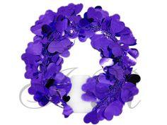 Purple Hearts Wire Garland