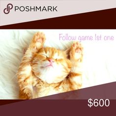 Follow game! My 1st one Help me increase my followers! Please like follow and share with others! Accessories