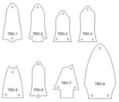 Truss Rod Covers - NO ENGRAVING - $0.00 : Terrapin Guitars, Custom Pick Guards