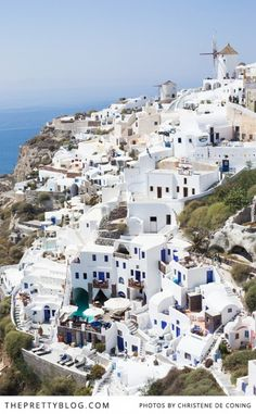 Gorgeous Greece - Santorini, Paros & Mykonos = My husband spent a few summers here growing up and I would love to visit with him! #SummerInspiration #spon