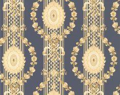 Textile Patterns, Textile Design, Flower Patterns, Textiles, Damask Wallpaper, Reading Room, Pattern Design, Wall Decor, Ceiling Lights