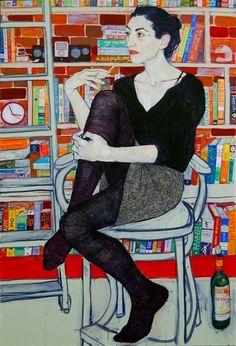 by Hope Gangloff - Egon Schiele like.