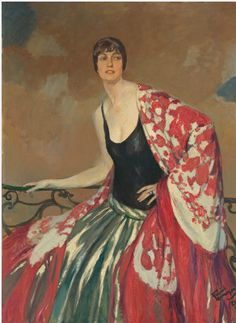 By Jean-Gabriel Domergue (1889-1962), 1923, Maud Dale, oil on canvas, National Gallery of Art.