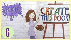 Create This Book Episode (Moriah Elizabeth) Draw With Jazza, Sketchbook Tour, Create This Book, Art Journal Prompts, Drawing Prompt, Elizabeth Craft, Bob Ross, One Color, Book 1