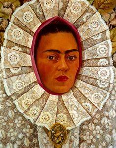 'autoportrait 1', huile de Frida Kahlo (1907-1954, Mexico)