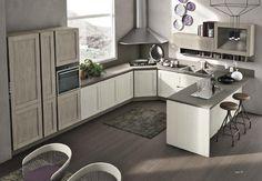 Image Cuisine Moderne : 100 Suggestions Superbes with regard to Image Cuisine Moderne Corner Stove, Kitchen Corner, Modern Kitchen Cabinets, Kitchen Cabinet Design, Cuisines Design, Home Decor Kitchen, Kitchen Ideas, Kitchen Styling, Home Interior Design