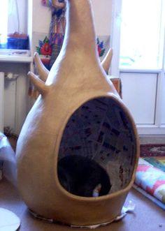Домик для кошки или кота своими руками: как сделать
