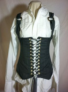 I'd like to see the shoulder straps made from neck ties. Hmmm,maybe the entire corset should be made from neck ties...