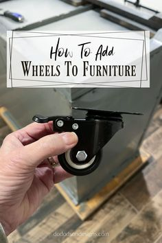 Adding wheels to vintage lockers is actually very simple. Most of the bases are wooden so all you do is attach them with screws. Here's how I repurposed my metal lockers for an industrial feel in my kitchen. Raw Wood Furniture, Furniture Repair, Furniture Makeover, Vintage Lockers, Metal Lockers, Rolling Kitchen Island, Armoire Makeover, Wood Dresser, Repurposed Items