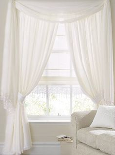 Superb Daisy Rose Lined Voile Curtains