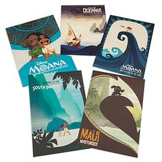 Disney Moana Limited Edition Lithograph Set | Disney Store