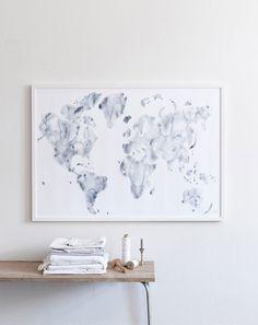 Silke Bonde limited edition art print - Blue World – norsu interiors Architecture Design, Wall Decor, Wall Art, Framed Prints, Art Prints, Framed Art, Scandinavian Design, Nordic Design, Les Oeuvres