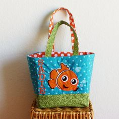 Finding Nemo Tote Bag/ Small Finding Nemo Diaper Bag -Birthday Gift (matching nemo pillowcase dress available) on Etsy, $33.00