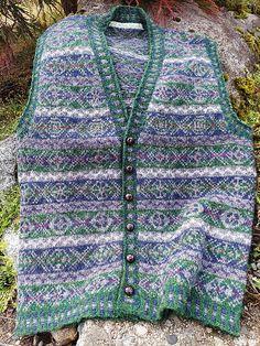 Ravelry: crookedneedles' Mitch's Fair Isle Cardigan Vest Knit Vest Pattern, Fair Isle Knitting Patterns, Sweater Cardigan, Knit Crochet, Cool Outfits, My Style, Knits, Ravelry, Crocheting