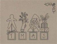 prim vintage christmas stitchery