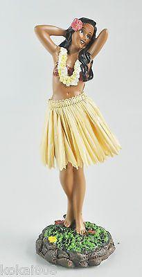 Hula Girl Dashboard Ukulele Doll Hawaii Car Lei Aloha Dance Bobblehead Aloha New