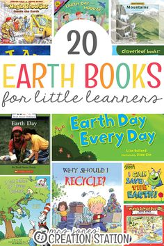 Earth Day is coming up! You have a great unit, but you need some fun books to fill your library. Check out my favorites from this great list! 20 Earth Books for Little Learners  - Mrs. Jones' Creation Station #EarthDay #Reading #Books