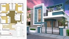 One Story House with 3 Bedroom Plot - SamPhoas Plan Single Floor House Design, Simple House Design, House Front Design, Contemporary House Plans, Modern House Plans, Best House Plans, Small House Plans, House Construction Plan, Plans Architecture
