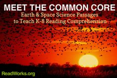 Free Earth  Space Science Passages from ReadWorks.org - Aligned with the Common Core! Awesome resource for teachers... you have to register, but it's free and it's definitely worth signing up.