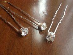 Silver Diamante Hair pins