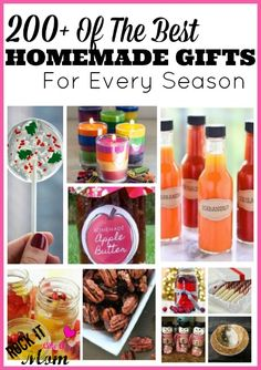 200+ Homemade Gift Ideas  For Every Season! This is the pin of all PINS! Over 200 homemade gift ideas for Fall, Spring, Summer, and Winter!