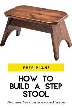 Step up to stool making with this practical project that's fun to make. Woodworking Projects Diy, Diy Wood Projects, Woodworking Plans, Handmade Wood Furniture, Wood Chair Design, Wood Working For Beginners, Wood Toys, Adirondack Chairs, Furniture Making