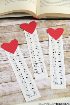 Music note bookmark craft #ShareMemories #ad                                                                                                                                                     More