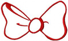 bow free embroidery desgn. Machine embroidery design. www.embroideres.com