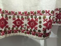 Romanian blouse - ie. Textiles, Traditional, Embroidery, Detail, Shirts, Embroidered Blouse, Blouses, Needlepoint, Fabrics