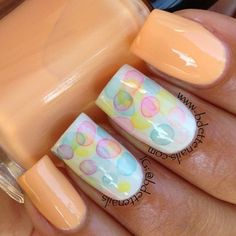 pastel bubbles nail art