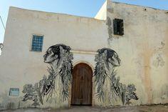 Mural in Erriadh Tunisia  - Street Art Project Djerbahood