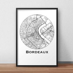Affiche Carte Bordeaux Minimalist Map City map par ArtmapDesign
