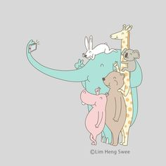 Wefieby Lim Heng Swee aka ilovedoodleinstagram: limhengsweeArt prints, t-shirts, etc available at http://www.ilovedoodle.com