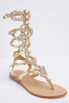 Oh My Goodness AB Stone Gladiator Sandal By Mystique from Kosmios