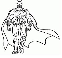 Free Batman Coloring Page To Print Out | Superheroes Coloring ...
