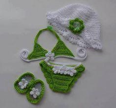 Aw, too cute! Crochet beach baby!