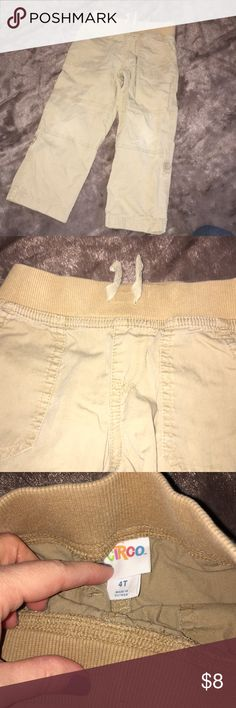 Circo boys 4T drawstring khakis Darker khaki, comfortable but can be dressed up! In great condition. Pockets. Circo Bottoms Casual
