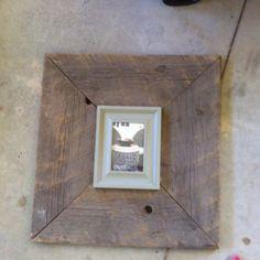 DIY Barn board frame