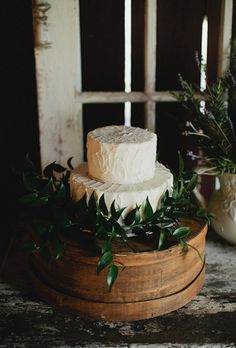 Rustic Wedding Cake Decorated with Ivy | Brides.com