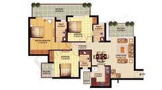 3BR-3T  1695 sq ft   95.77Lacs (5650/ sq ft)