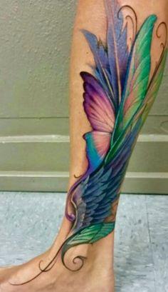 Tattoo Feather Foot Mom New Ideas Mom Tattoos, Trendy Tattoos, Unique Tattoos, Body Art Tattoos, Hand Tattoos, Sleeve Tattoos, Tatoos, Tattoo Calf, Alas Tattoo
