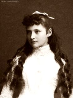 Young Princess Alix of Hesse (later Tsarina Alexandra)
