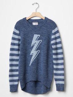 GapKids x ED stripe energy bolt sweater | Gap