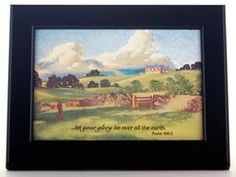 """Green Pastures"" framed print by Joni Eareckson Tada"