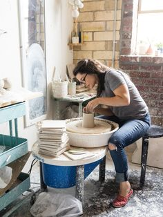 pottery throwing . i love to play with clay . my kind of fun . this should be me . it's been too long .